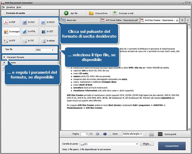 convertire documenti con avs document converter