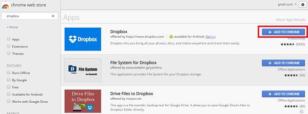 dropbox con gmail