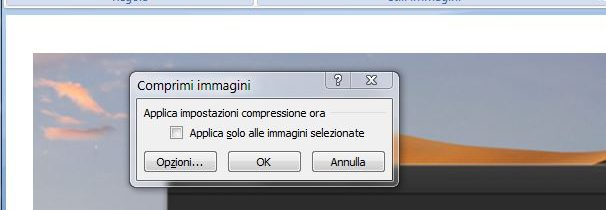 Comprimere immagini in Word per allegerire documento